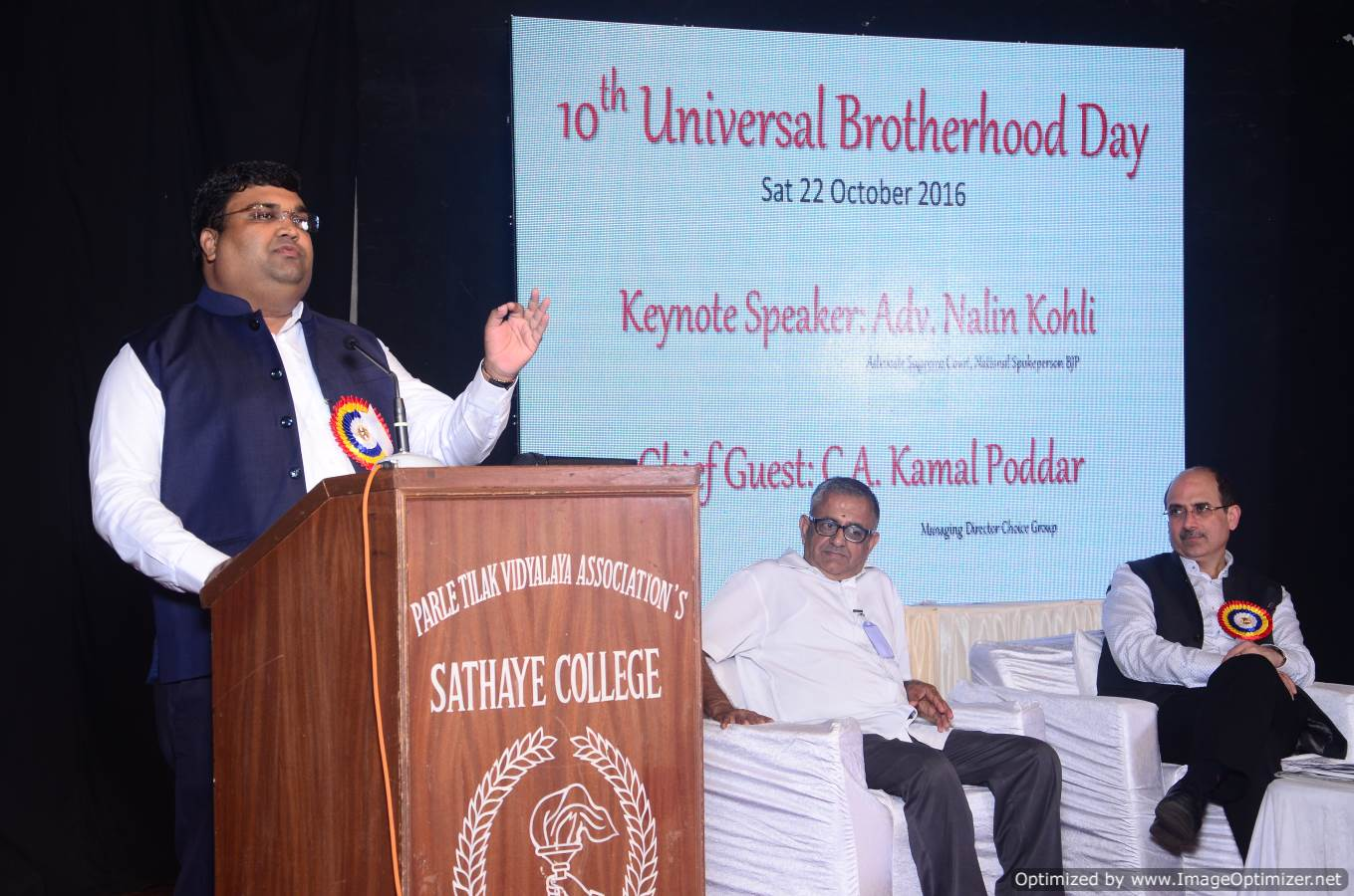 Kamal Poddar Ji addressing the Audience